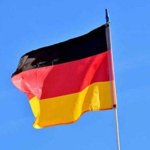 Bandiera tedesca che sventola