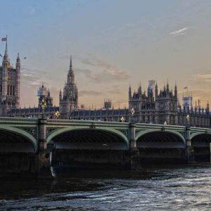 Vista di Londra al tramonto