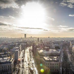 Vista di Parigi dall'alto